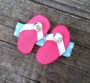 flip flops hair clip summer