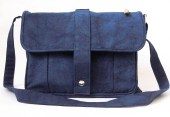 Organic and Fair Trade Cotton Canvas Ceryl Satchel/Messenger - ElenaChiesa