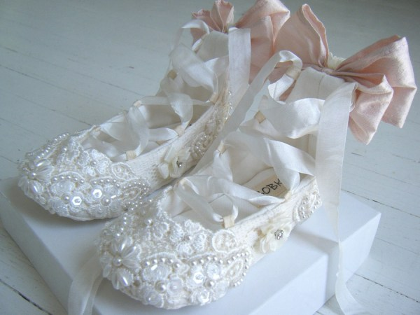 Lace Baby Shoes Ivory Shoesflower Girl Bobkababy