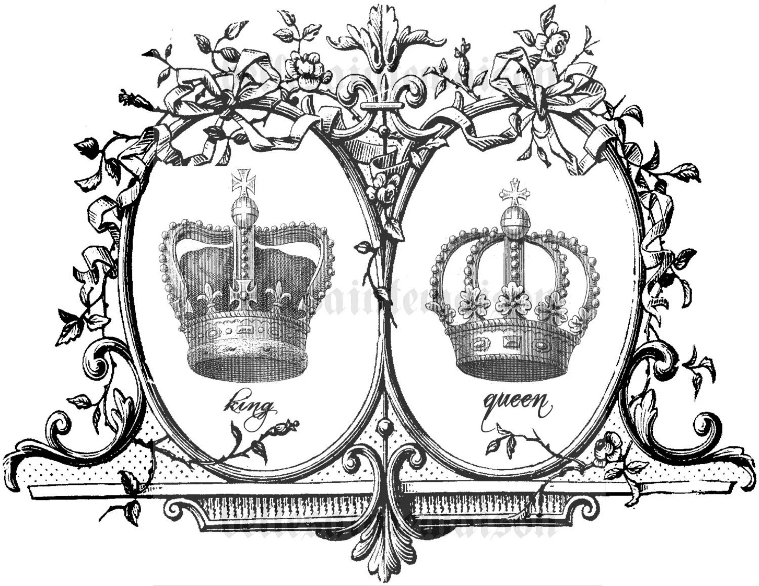 King And Queen Crown Sketch