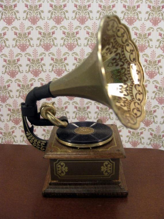 Vintage Miniature Gramophone Music Box Bodo Hennig