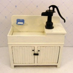 Ice Cream Parlor Chairs Cheap Living Room For Sale Miniature Kitchen Sink With Water Pump Dollhouse