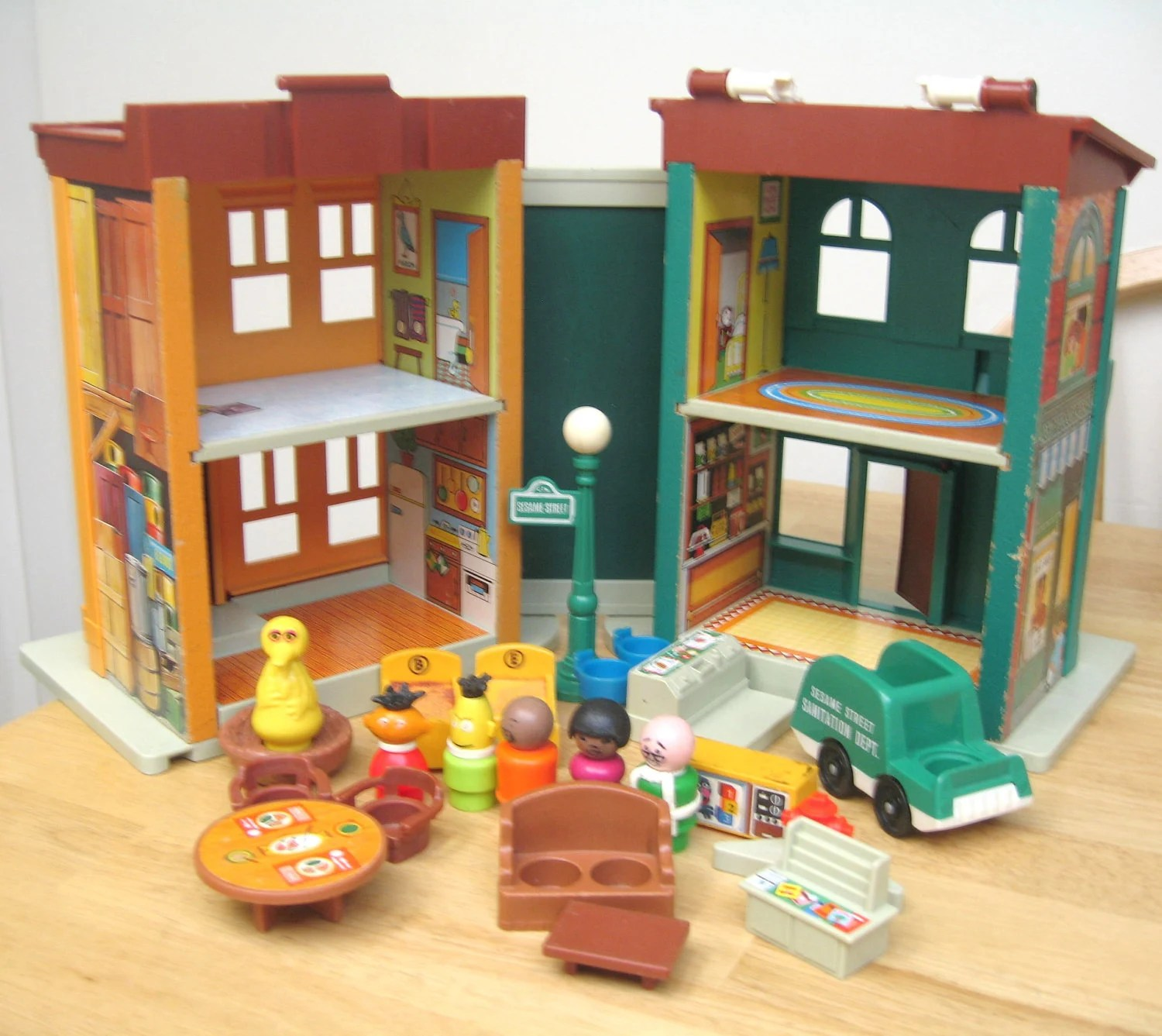 sesame street table and chairs ergo ball chair reviews vintage fisher price townhouse