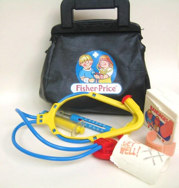 Vintage Fisher Medical Kit Doctor Bag Toysofthepast
