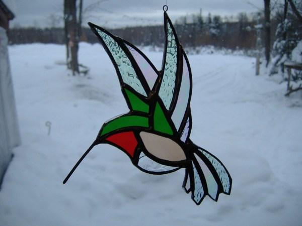 Hummingbird Flat Stained Glass Suncatcher