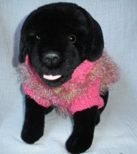 Shocking Pink Fancy Fur Dog Sweater Size Small by classicpurls