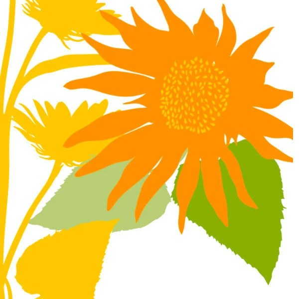 sunflower clip art silhouettes