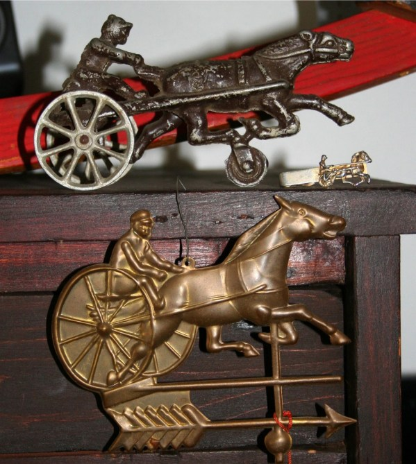 Sulky Harness Racing Horse