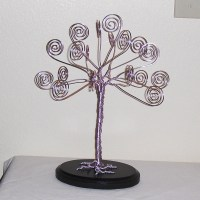 Pale Pink Wire Tree Card Holder Photo Display by TwystedWyres