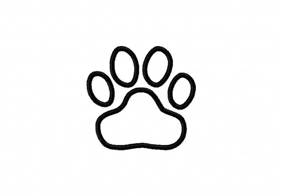 Tiger Paw Print Embroidery Machine Applique Design 10169