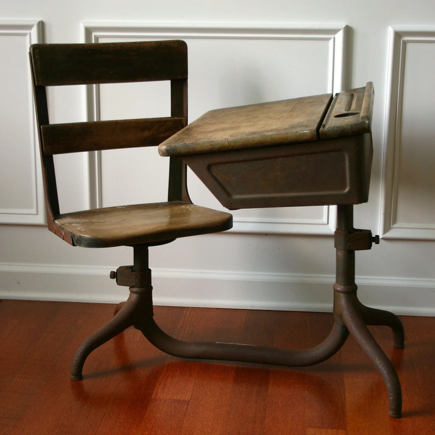 Wooden School Chairs Vintage School Desk Wooden Antique Childrens 1930s