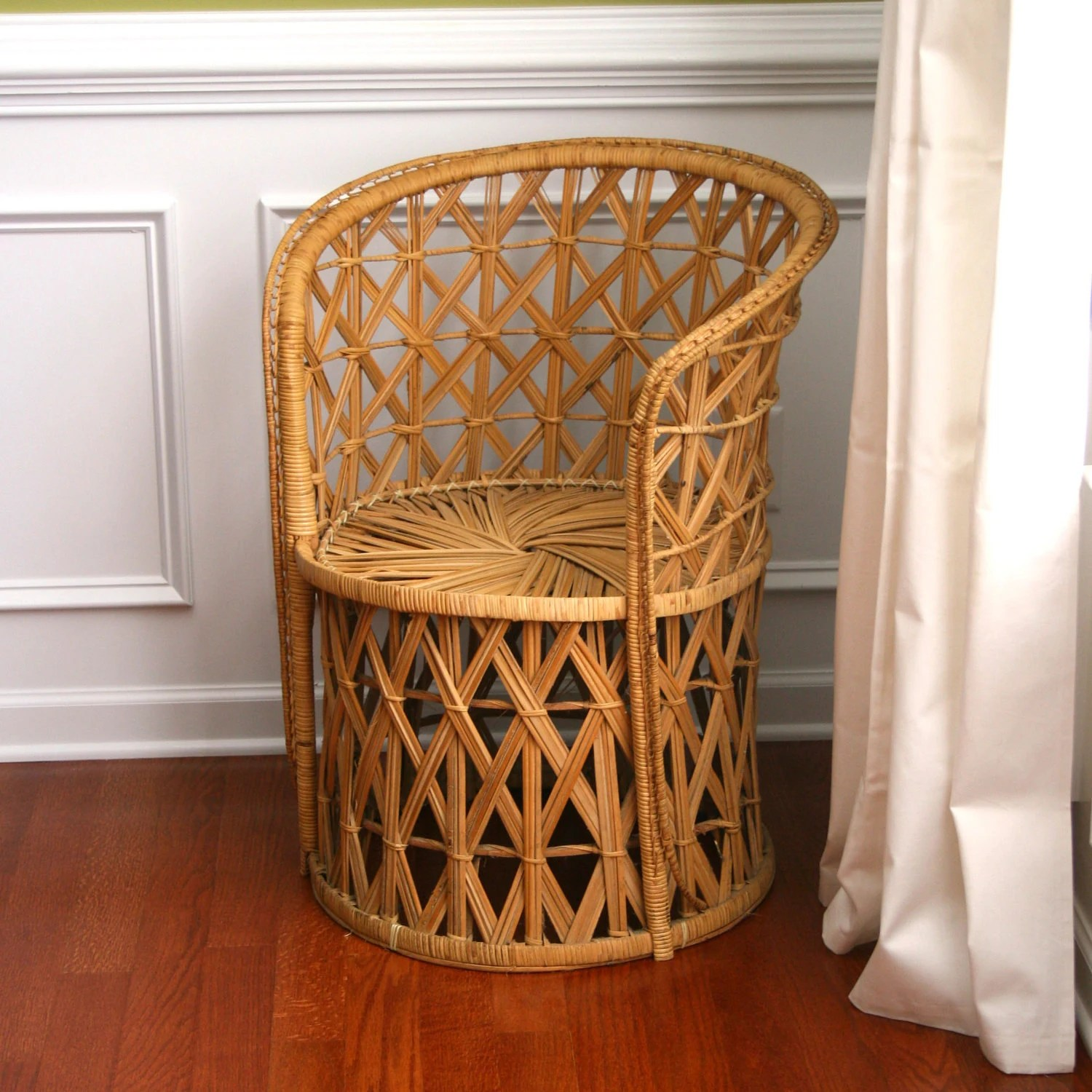 Vintage Rattan Chairs Vintage Rattan Chair Reserved Fall Autumn Home Decor