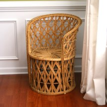 Vintage Rattan Chair. Reserved. Fall Autumn Home Decor