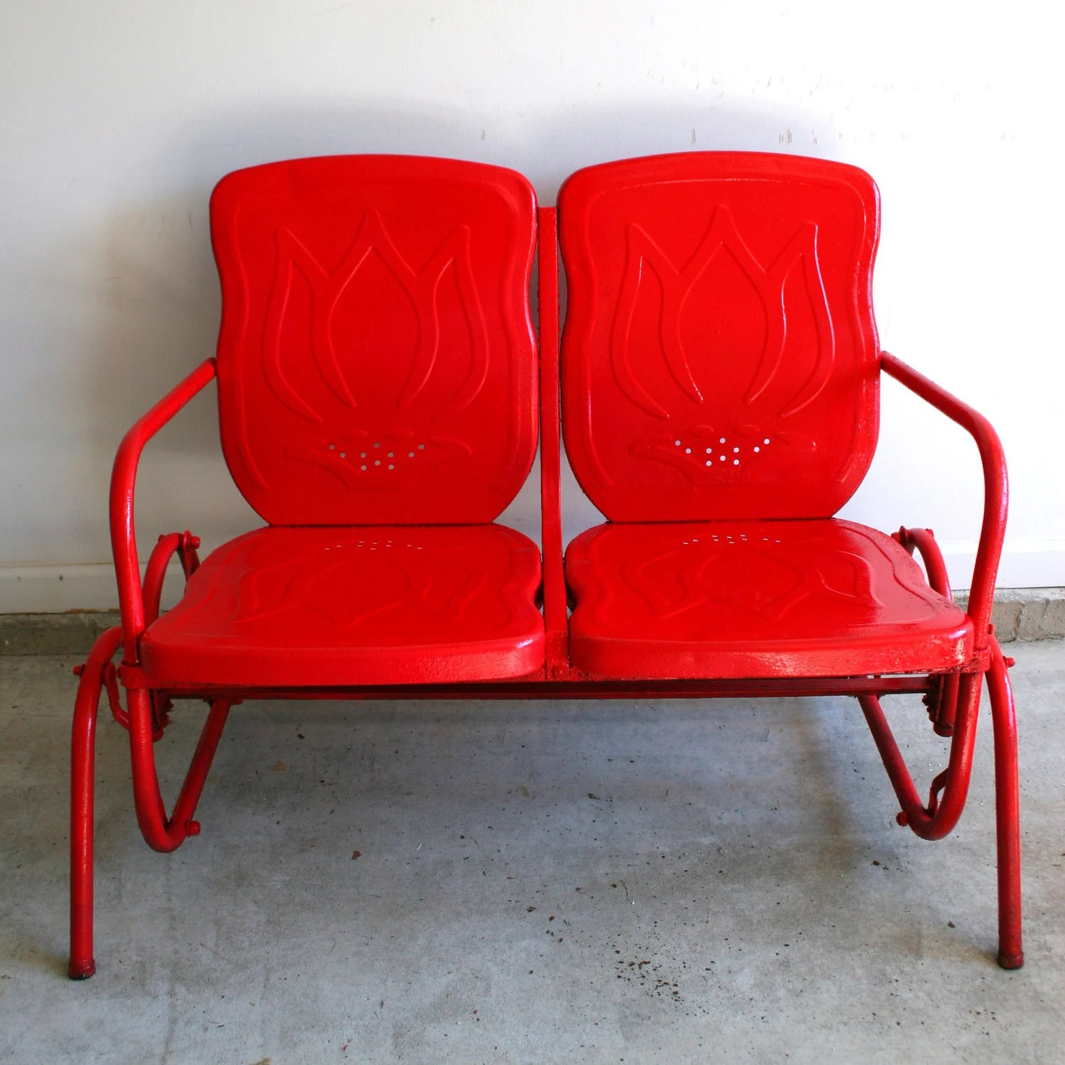 love swing chair conference room chairs with wheels and arms valentines day red metal glider reserved for by rhapsodyattic