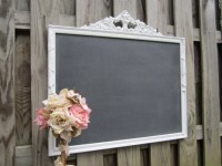 ANTIQUE CHALK BOARD Decorative Framed Chalkboard by