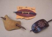 vintage barrettes 3 leather