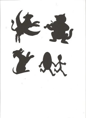 Hey Diddle Diddle Mother Goose collection silhouettes set of