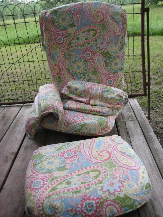 Small Round Fabric Ottoman