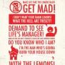 When Life Gives You Lemons 11x17 Poster Print