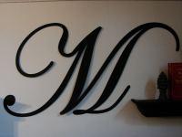 Large Metal Letters Script ABCDEFGHIJKLMNOPQRSTUVWXYZ