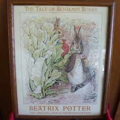 Round Bamboo Chair Office Yeovil Vintage Beatrix Potter Original Art Print Framed