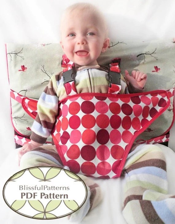 Travel High Chair Pdf Sewing Pattern Instant Download By