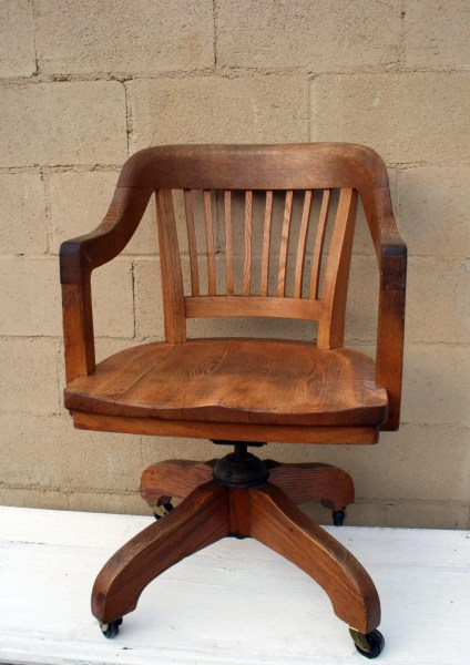 antique office chair Vintage Oak Office Chair