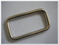 1.5 inch rectangle Wire Loops / Rings nickel Finish 10 Pack