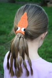 squid felt hair clip