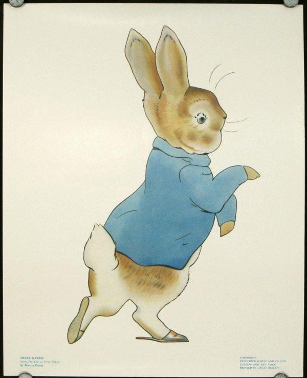 Beatrix Potter Illustrations. Five Vintage Color Prints