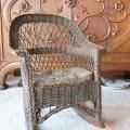 Antique wicker rocking chair child s rocking by ameliarosevintage