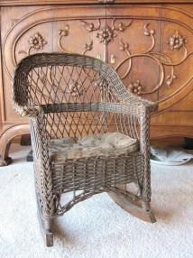Antique Wicker Rocking Chair Child'
