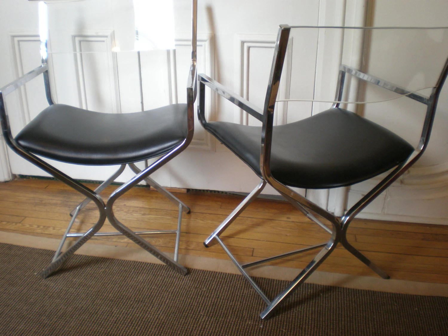 leather directors chair light grey pair modern chrome lucite director 39s chairs