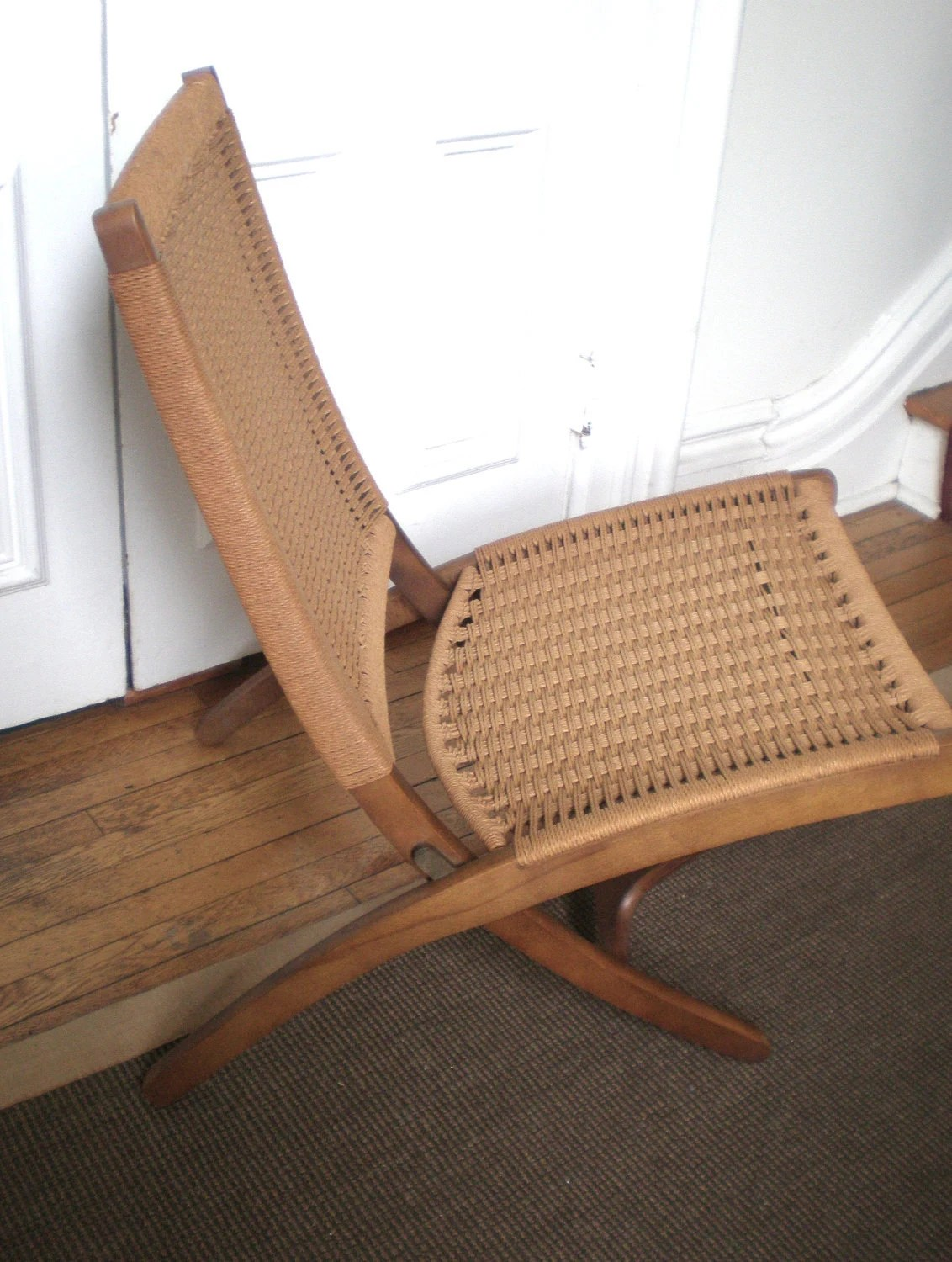 yugoslavian folding chair outdoor dining chairs white vintage mid century woven and ottomon style of
