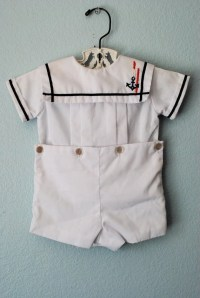 vintage baby boy white nautical outfit by 3RingCircus on Etsy