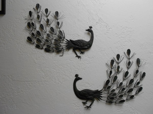 Sexy Mcm 60s Exotic Peacock Metal Wall Sculptures Vintage