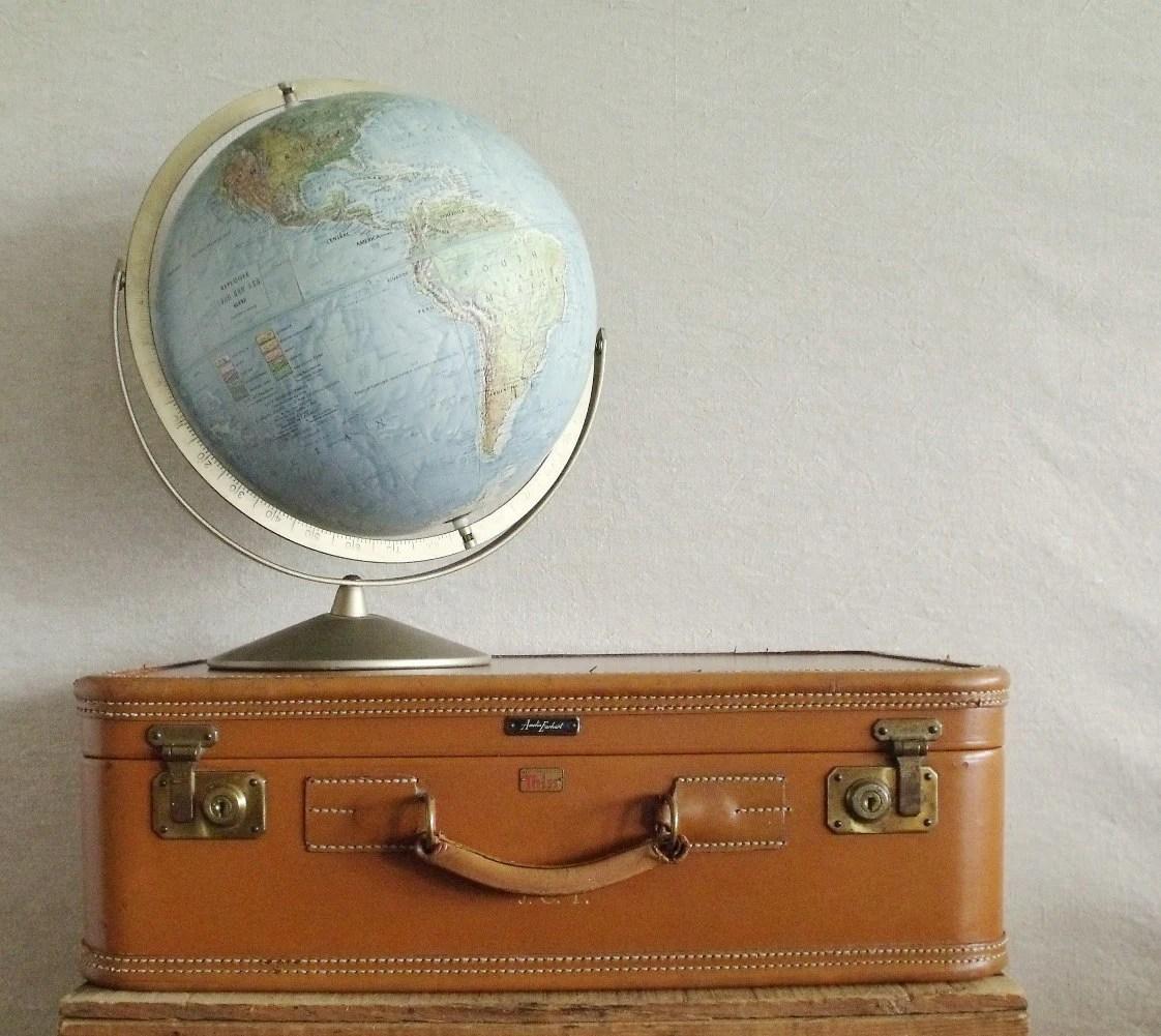Amelia Earhart Vintage Leather Suitcase