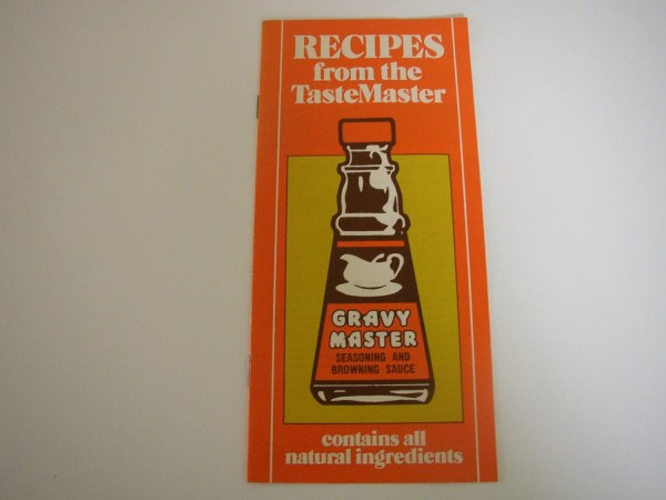 Vintage Gravy Master Seasoning Browning Sauce Recipe Book