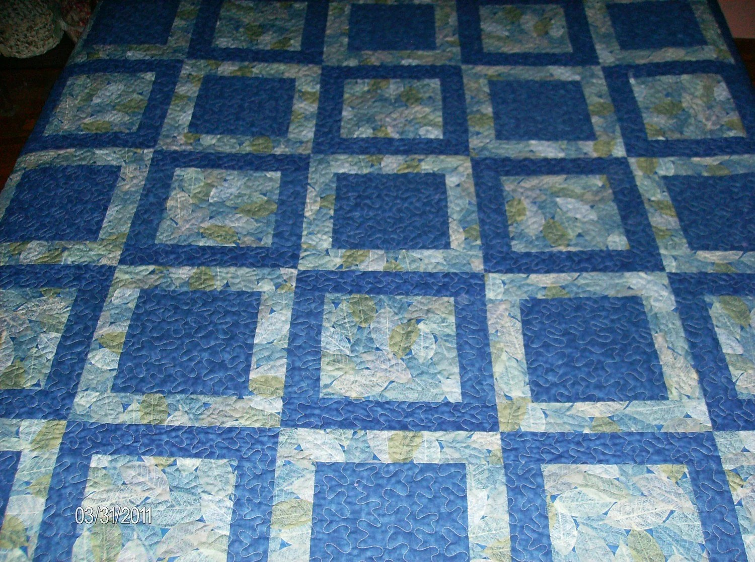Solid Blue Quilt