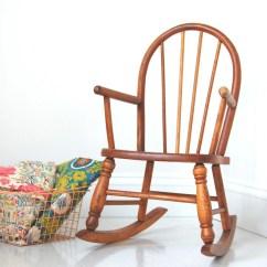 Childs Wooden Chair Lift Edmonton Alberta Vintage Rocking 1920s 1930s