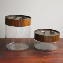 Vintage Pyrex Canisters Clear Glass With