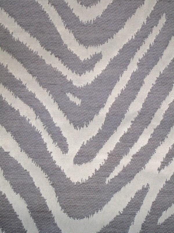 Grey and White Zebra Fabric