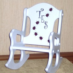 Personalized Rocking Chair For Toddlers Ethan Allen Queen Anne Dining Chairs Toddler Ladybugs By Weaverwood