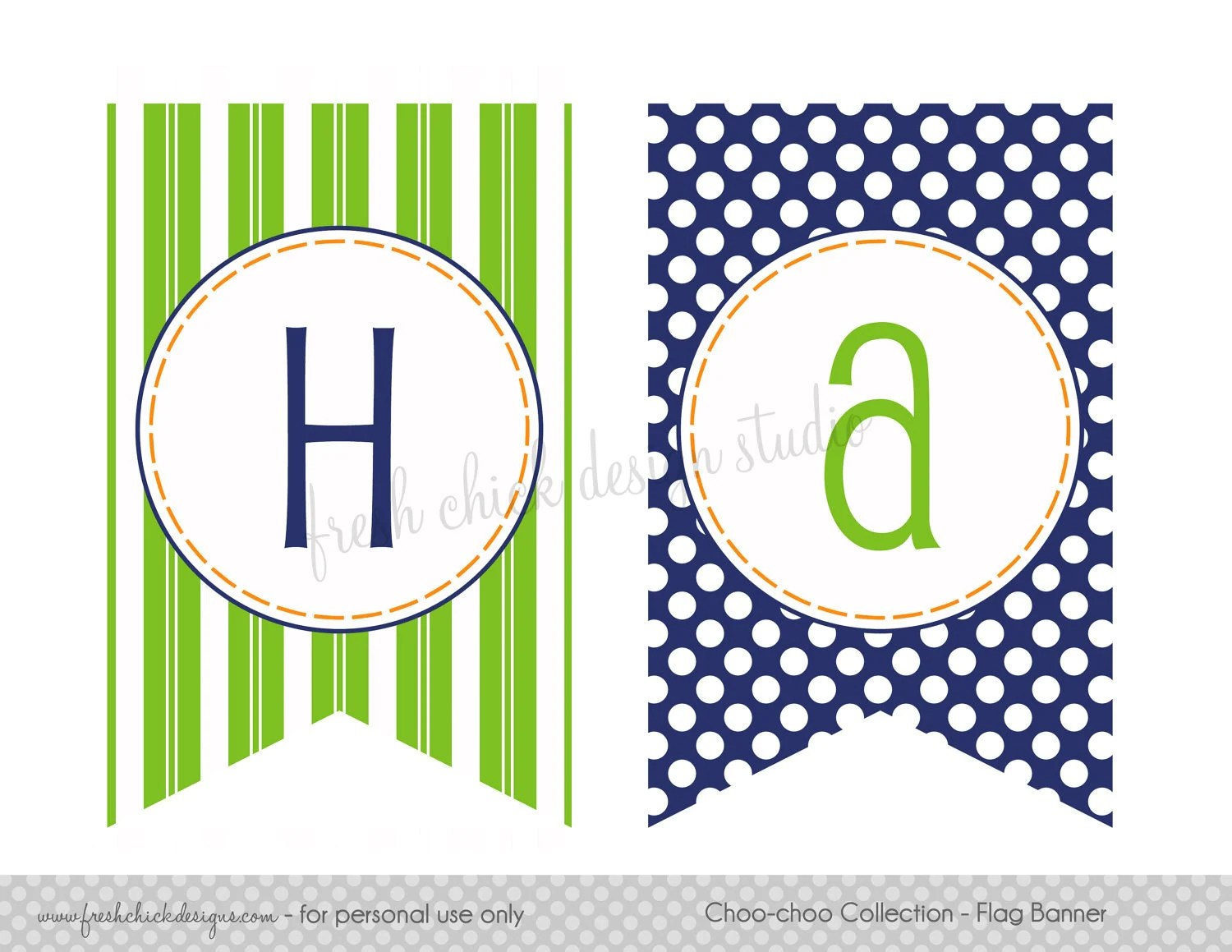 Items Similar To Printable Party Happy Birthday Flag Banner