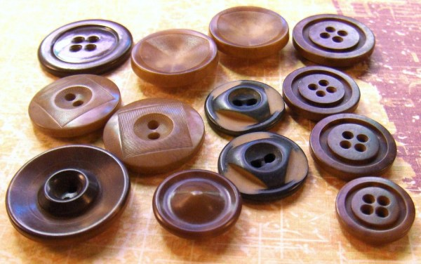 Vintage Buttons Vegetable Ivory Tagua Nut Collection Of