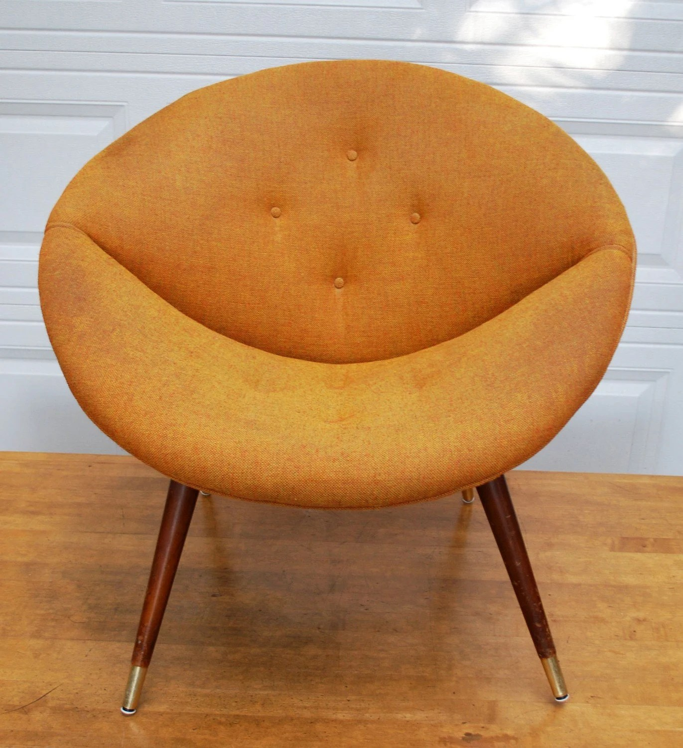 papasan chair cover etsy kitchen table 2 chairs and bench mid century orange saucer