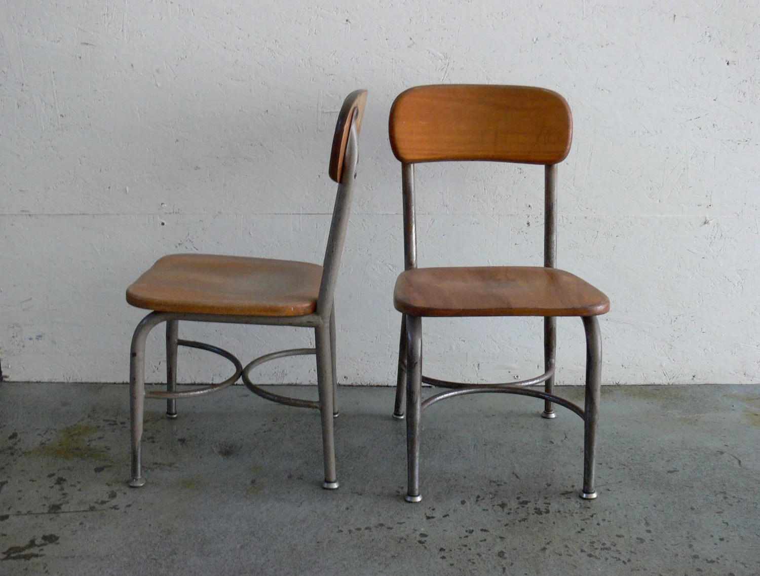 Kids School Chairs Vintage Children School Chairs Set Of 2