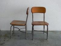 Vintage Children School Chairs Set of 2