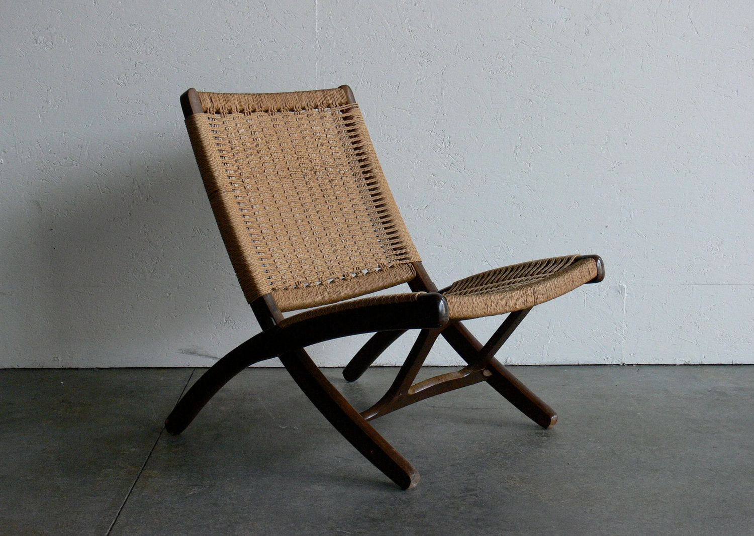 Hans Wegner Folding Chair Vintage Danish Hans Wegner Style Rope Folding Chair