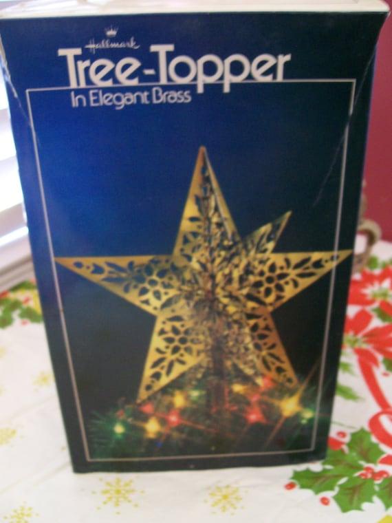 Hallmark 1980 Tree Topper In Elegant Brass